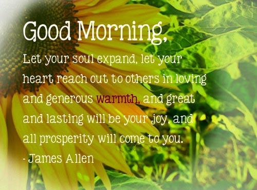 Love Inspirational Good Morninig Sayings