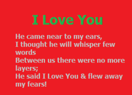 Romantic Love Messages in English for GF